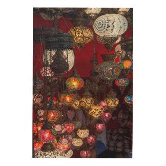 Impression Sur Bois Lanternes turques au marché