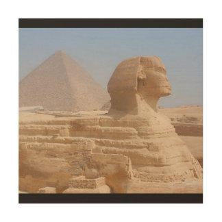 Impression Sur Bois L'art de mur de Gizeh Egypte de sphinx