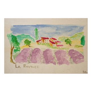 Impression Sur Bois Lavande Fields Abbaye de Senanque   Provence