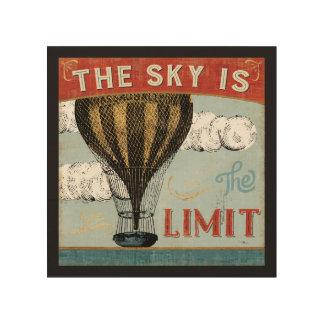Impression Sur Bois Le ciel chaud de ballon à air est la citation de