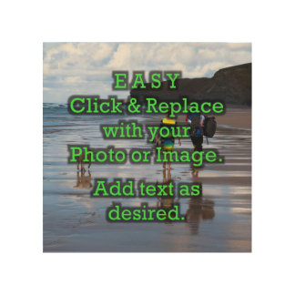 Impression Sur Bois Le clic simple et remplacent la photo pour créer