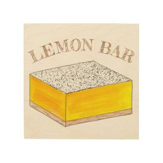 Impression Sur Bois Le dessert de pâtisserie de barre carrée de citron