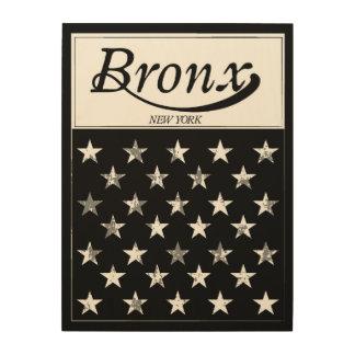 Impression Sur Bois Le drapeau américain de Bronx   New York