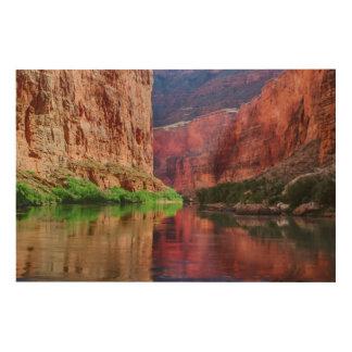 Impression Sur Bois Le fleuve Colorado en canyon grand, AZ