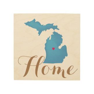 Impression Sur Bois Le Michigan est l'emplacement fait sur commande à