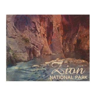 Impression Sur Bois Le parc national de Zion d'étroits