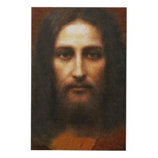 Impression Sur Bois Le visage saint de l'image de dévotion en bois de