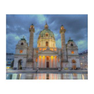 Impression Sur Bois L'église de Charles de saint à Vienne, Autriche