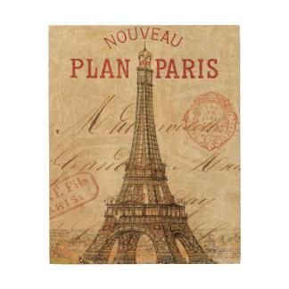 Impression Sur Bois Lettre de Paris