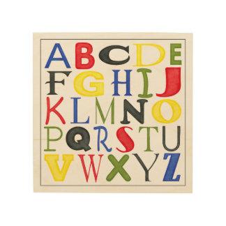 Impression Sur Bois Lettres brillamment colorées par Megan Meagher