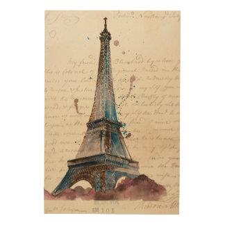 Impression Sur Bois Lettres d'Eiffel