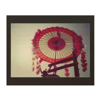 Impression Sur Bois Lever de soleil de parapluie du Japon (festival
