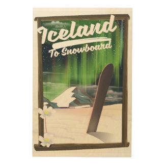Impression Sur Bois L'Islande à faire du surf des neiges