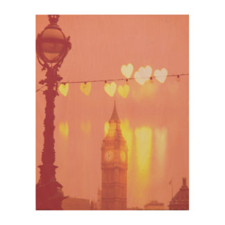 Impression Sur Bois Londres   Big Ben Nightime filtré par photographie