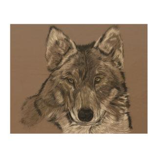 Impression Sur Bois Loup