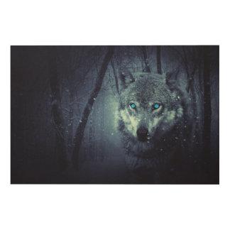 Impression Sur Bois Loup-hiver