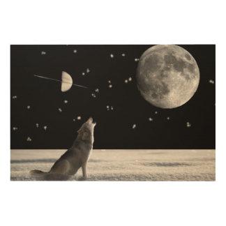 Impression Sur Bois Loup-imaginaire