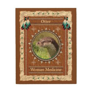 Impression Sur Bois Loutre - toile en bois de médecine de femme