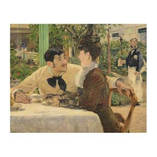 Impression Sur Bois Manet | le jardin de Pere Lathuille, 1879