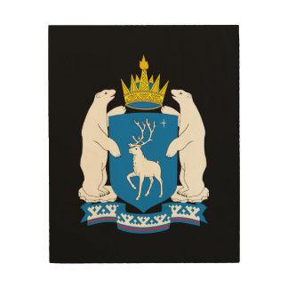 Impression Sur Bois Manteau des bras de Yamal-Nenetsia