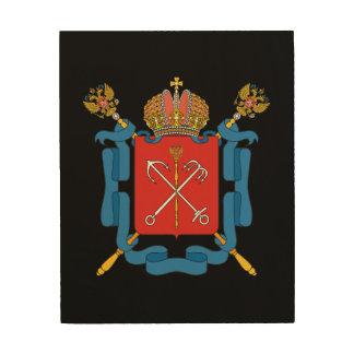 Impression Sur Bois Manteau des bras du St Petersbourg