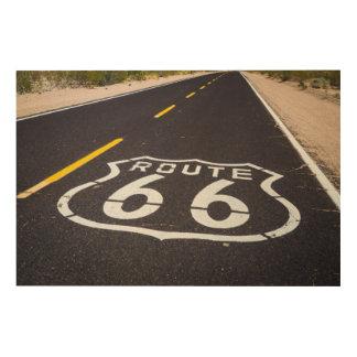Impression Sur Bois Marqueur de route de l'itinéraire 66, Arizona