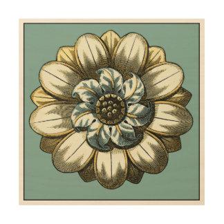 Impression Sur Bois Médaillon floral fleuri sur l'arrière - plan