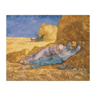Impression Sur Bois Midi de Vincent van Gogh  , la sièste, après