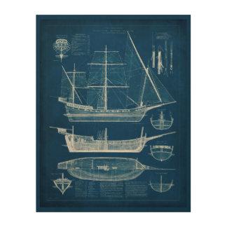 Impression Sur Bois Modèle antique I de bateau