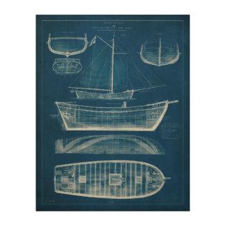 Impression Sur Bois Modèle antique II de bateau