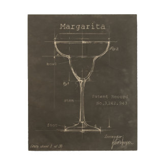 Impression Sur Bois Modèle noir et blanc en verre de margarita