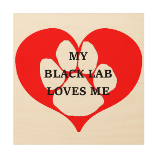 Impression Sur Bois mon laboratoire de noir m'aime