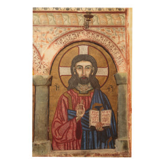 Impression Sur Bois Mosaïque antique de Jésus