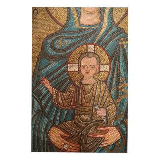 Impression Sur Bois Mosaïque de bébé Jésus