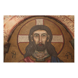 Impression Sur Bois Mosaïque de Jésus