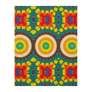 Impression Sur Bois Motif coloré de point de kaléidoscope