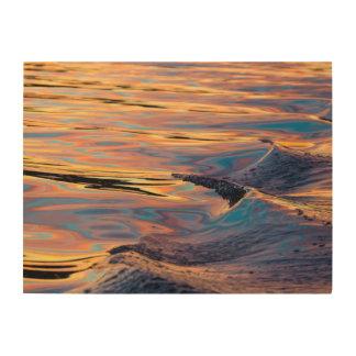 Impression Sur Bois Motifs de coucher du soleil reflété dans le