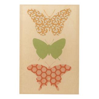 Impression Sur Bois Motifs de papillon décoratifs sur l'arrière - plan