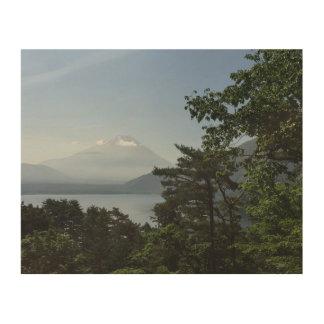Impression Sur Bois Mt Fuji et lac Motosuko