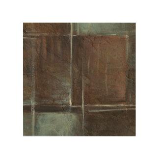 Impression Sur Bois Mur de briques rouge et gris
