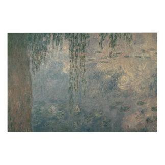 Impression Sur Bois Nénuphars de Claude Monet | : Saules pleurants,