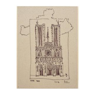 Impression Sur Bois Notre-Dame de Paris | Ille de la Cite de