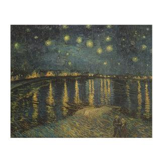 Impression Sur Bois Nuit étoilée de Vincent van Gogh | au-dessus du