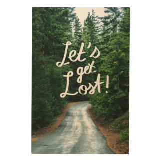Impression Sur Bois Obtenons perdus ! Citez la forêt verte de