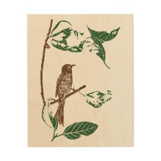 Impression Sur Bois Oiseau