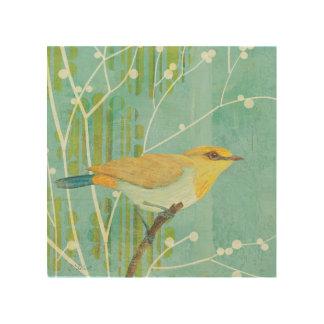 Impression Sur Bois Oiseau chanteur de ciel bleu