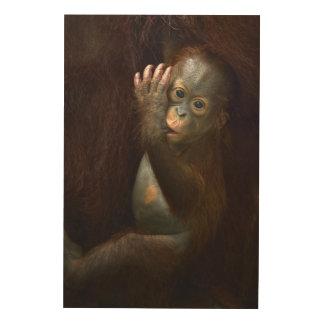 Impression Sur Bois Orang-outan