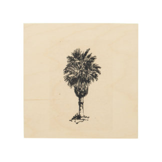 Impression Sur Bois Palmier dattier sur le bois
