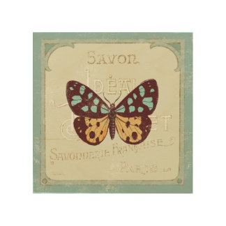 Impression Sur Bois Papillon modelé par cru