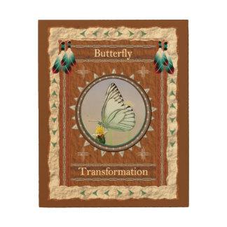 Impression Sur Bois Papillon - toile en bois de transformation